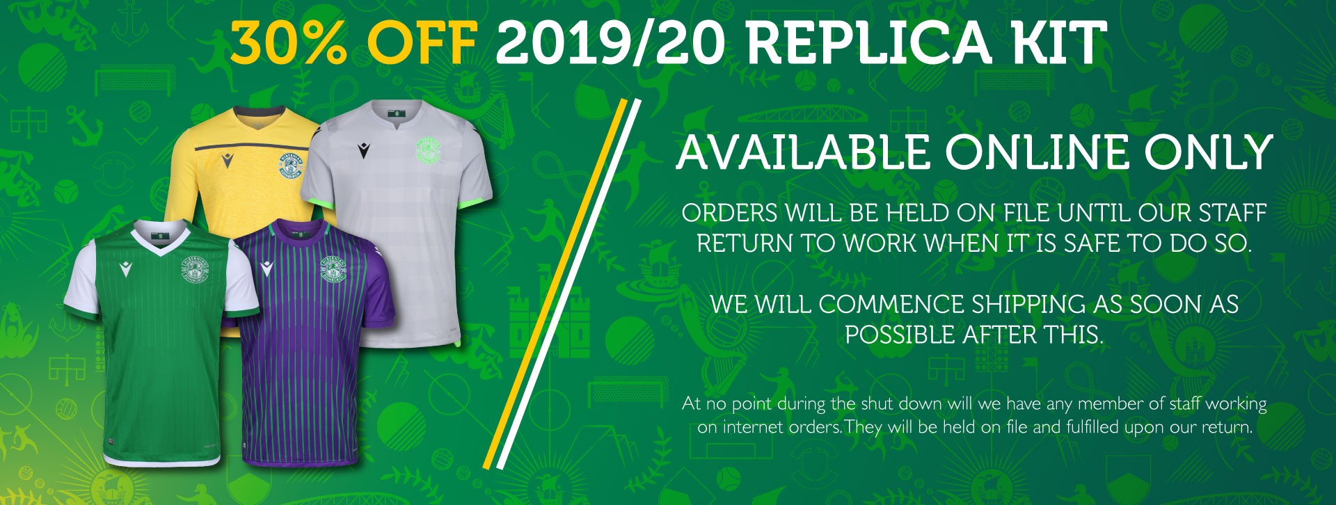 30% OFF 2019/20 REPLICA KIT