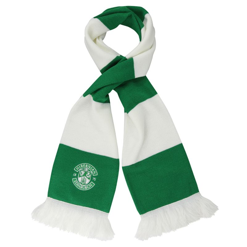 EMBROIDERED CREST BAR SCARF