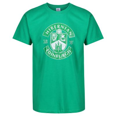 MENS DISTRESSED CREST T-SHIRT GREEN