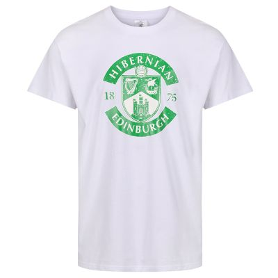 MENS DISTRESSED CREST T-SHIRT WHITE