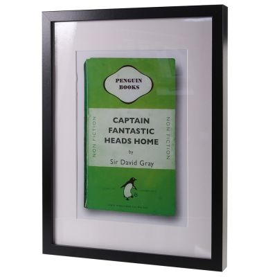 FRAMED PENGUIN GRAY