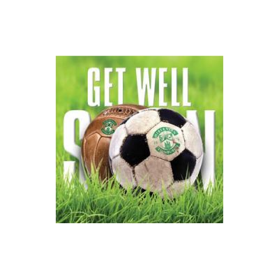 GET WELL SOON CARD (FOOTBALL)