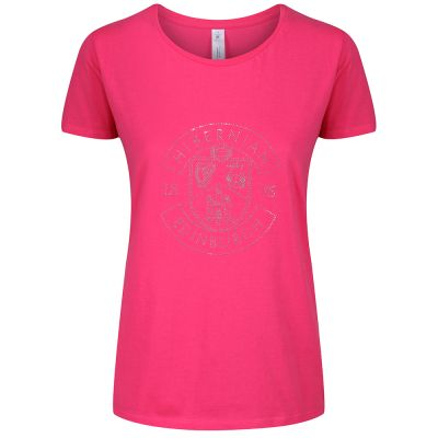 LADIES DIAMANTE T-SHIRT PINK