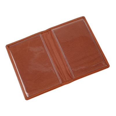 LEATHER SEASON TICKET HOLDER BROWN