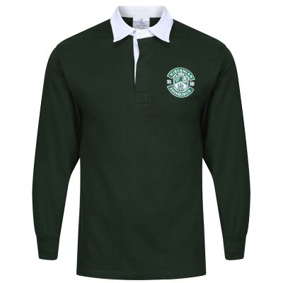 MENS RUGBY JERSEY BOTTLE GREEN