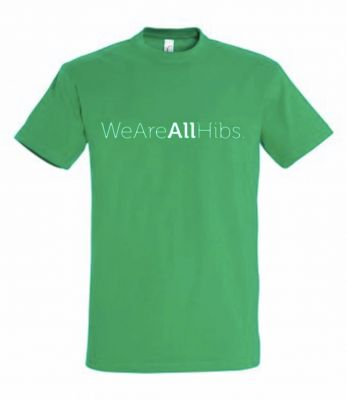 WE ARE ALL HIBS T-SHIRT (POLY) SNR GRN