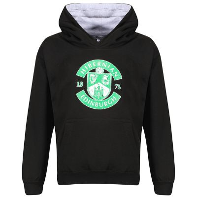 DIST CREST HOODY JNR BLK/WH image
