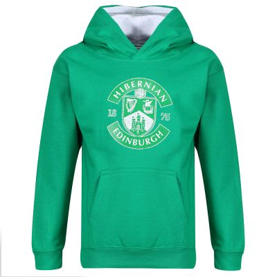 DIST CREST HOODY JNR GRN/WH image