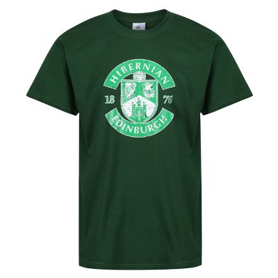 MENS DISTRESSED CREST T-SHIRT BOTTLE GREEN image