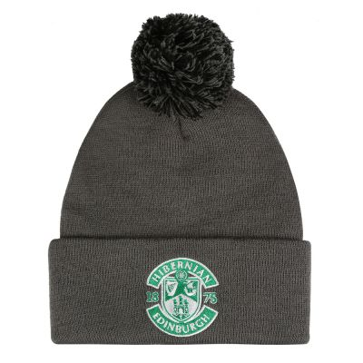 GREY EMB CREST BOBBLE HAT image