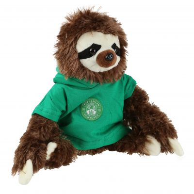 LARGE SLOTH SOFT TOY - BROWN image