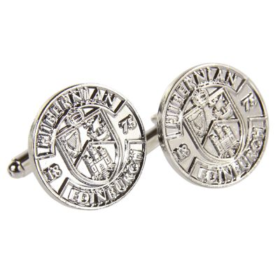 SILVER PLATED CREST CUFFLINKS image