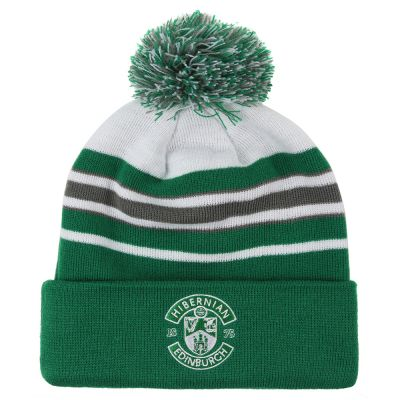 STRIPED BOBBLE HAT image