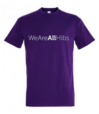 WE ARE ALL HIBS T-SHIRT (POLY) SNR PPL image