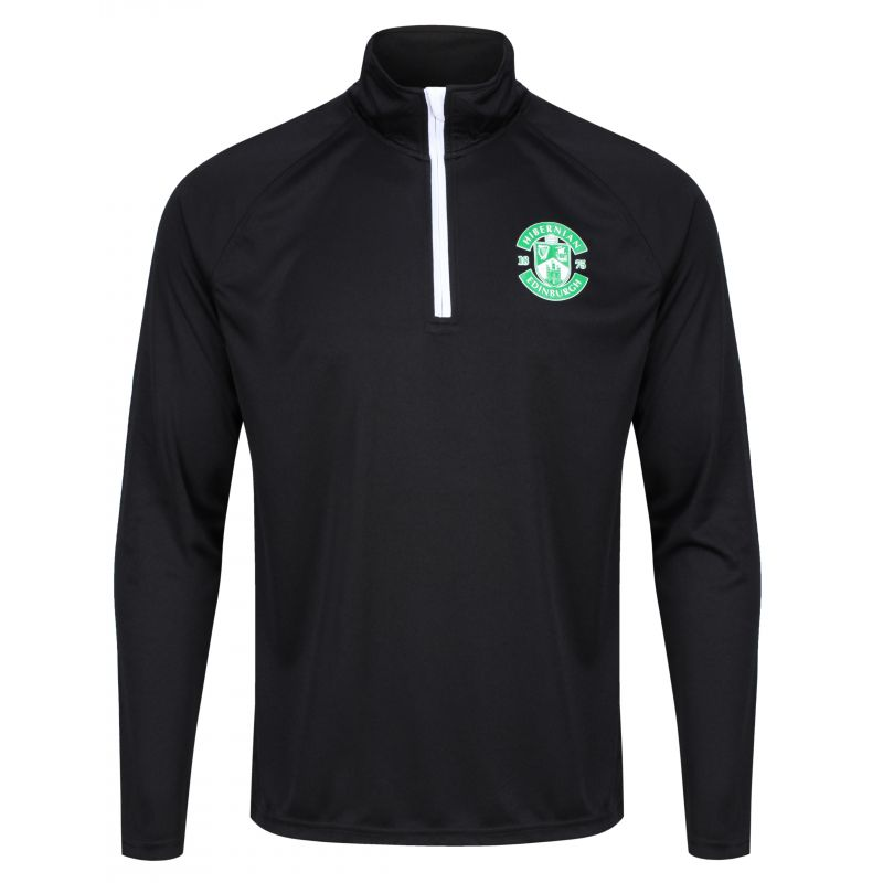 RIBBED CREST 1/4 ZIP BLK SNR
