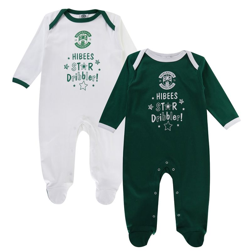 STAR DRIBBLER TWIN PK SLEEPSUIT