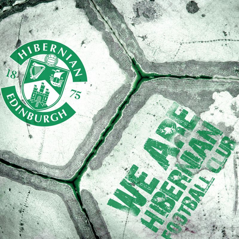 WE ARE HIBS GRUNGE BALL CARD
