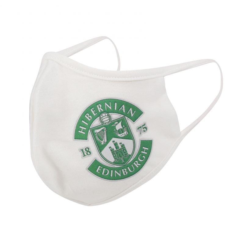 (WHT) CLUB CREST ADULTS FACE COVERING